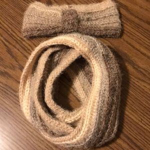 Crocheted Infinity Scarf & Headband